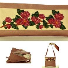 фото: сумка-клатч для вышивки бисером Ветка магнолии