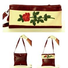 фото: сумка-клатч для вышивки бисером Роза