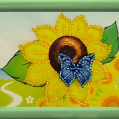 фото: картина для вышивки бисером Подсолнух