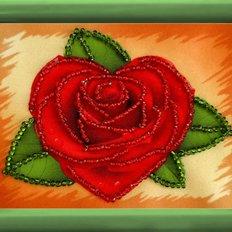 фото: картина для вышивки бисером Роза