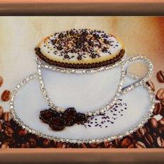 фото: картина для вышивки бисером Чашка кофе