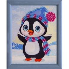 фото: картина для вышивки бисером Пингвин