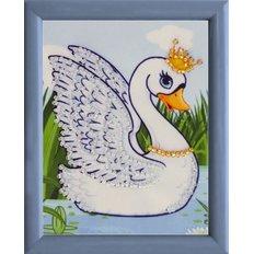 фото: картина для вышивки бисером Лебедь