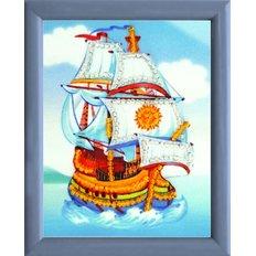 фото: картина для вышивки бисером Корабль