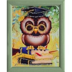 фото: картина для вышивки бисером Мудрая сова