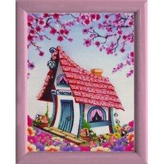 фото: картина для вышивки бисером Домик счастья