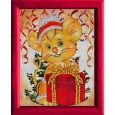фото: картина для вышивки бисером Мышонка