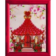 фото: картина для вышивки бисером Домик любви
