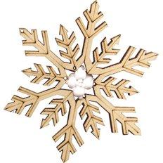 фото: новогодняя игрушка из дерева с бисером, Зимние фантазии