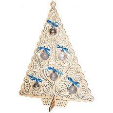 фото: новогоднее украшение из дерева с бисером, ёлочка