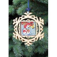 Набор новогоднее украшение из фанеры Новогодняя игрушка Снеговик