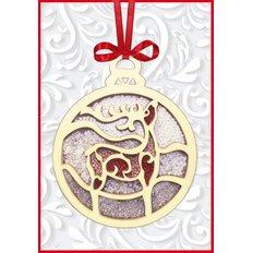 Набор новогоднее украшение из фанеры Новогодняя игрушка Олень