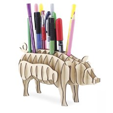фото: Свинья-органайзер из фанеры