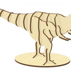 фото: конструктор из фанеры Тираннозавр
