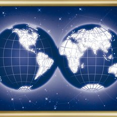 Набор со стразами Карта мира