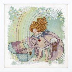 фото картина для вышивки крестом: ангел