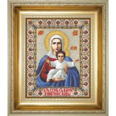 Набор для вышивки крестом Икона Божьей Матери Аз есмь с вами и никтоже на вы