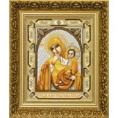 Набор для вышивки крестом Икона Пресвятая Богородица Отрада или утешение