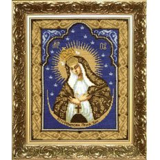 Набор для вышивки крестом Икона Образ Пресвятой Богородицы Остробрамская