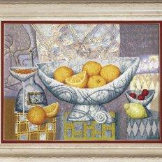 фото картина для вышивки крестом натюрморт апельсины