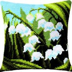Набор для вышивки крестом: Подушка Ландыши