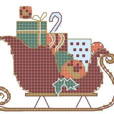 Схема для вышивания крестиком на водорастворимом флизелине Под елкой
