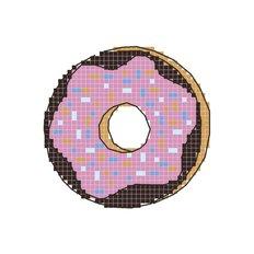 Схема для вышивания крестиком на водорастворимом флизелине Имбирный пряник