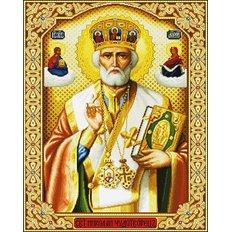 фото: картина для вышивки в алмазной технике, Святой Николай Чудотворец