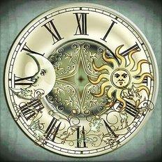 фото: набор в алмазной технике Часы День и ночь
