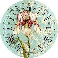 фото: набор в алмазной технике Часы Ирис