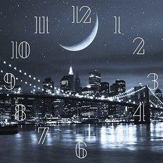 фото: набор в алмазной технике Часы Ночной город