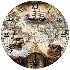 фото: набор в алмазной технике Часы Парусники