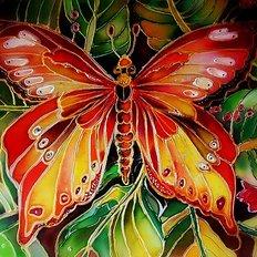 фото: картина в алмазной технике Бабочка