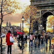 фото: картина в алмазной технике, Триумфальная арка