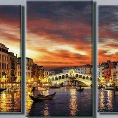 фото: картина в алмазной технике, Триптих – Вечерняя Венеция