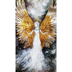 фото: картина в алмазной технике, Ангел-3