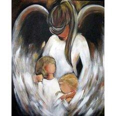 фото: картина в алмазной технике, Ангел Хранитель – Мама