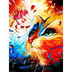 фото: картина для раскрашивания по номерам, Котик с цветком