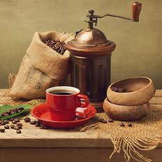 фото: картина для раскрашивания по номерам, Свежемолотый кофе