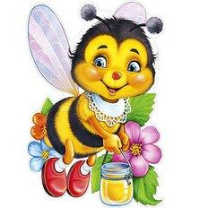 фото: картина для раскрашивания по номерам, Пчелка с медом
