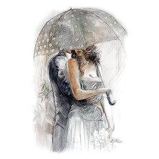 фото: картина для раскрашивания по номерам, Под зонтом