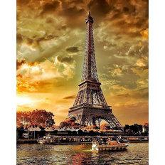 фото: картина для раскрашивания по номерам, Осенний Париж