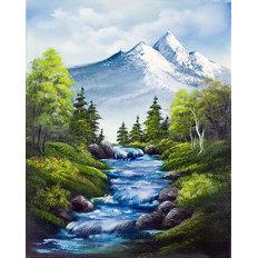 фото: картина для раскрашивания по номерам, Горная река