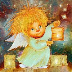 фото: картина для раскрашивания по номерам, Ангел, дарящий свет