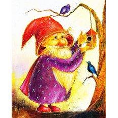 фото: картина для раскрашивания по номерам, Волшебник, дарящий счастье