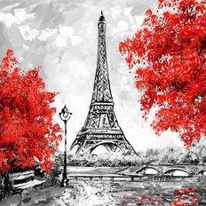 фото: картина для раскрашивания по номерам, Рубиновая осень