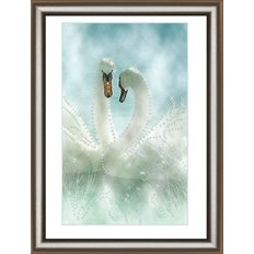 Набор со стразами Белые лебеди