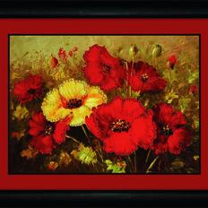 фото: картина со стразами, Красочный букет