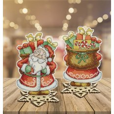 фото: новогоднее украшение для вышивки крестом