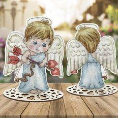 фото: новогоднее украшение для вышивки крестом Серия. День Святого Валентина. Ангелочек